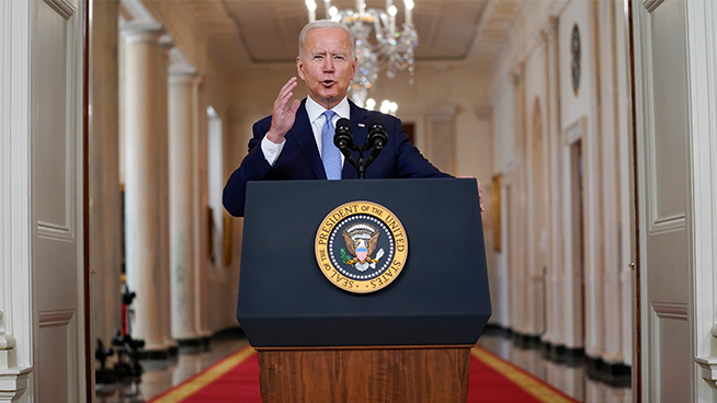 Biden gives defiant defense of the withdrawal from Afghanistan: 'I was not extending a forever exit'