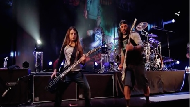 Watch rock doc featuring Metallica bassist's 12 year-old son on tour with Korn