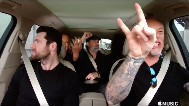 Metallica rocks out to Rihanna and Disney songs on 'Carpool Karaoke'