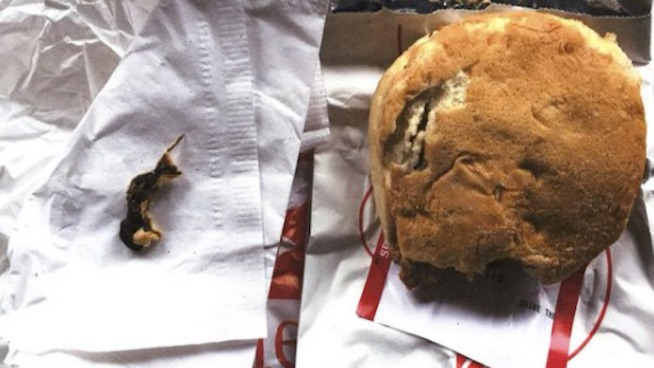 Woman finds a mouse in her chicken sandwich