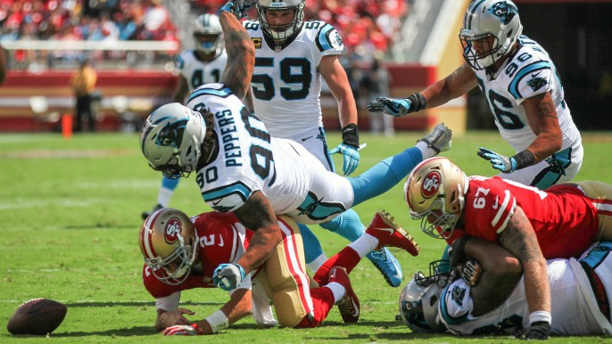 Panthers throttle 49ers, ruin Kyle Shanahan's head coaching debut