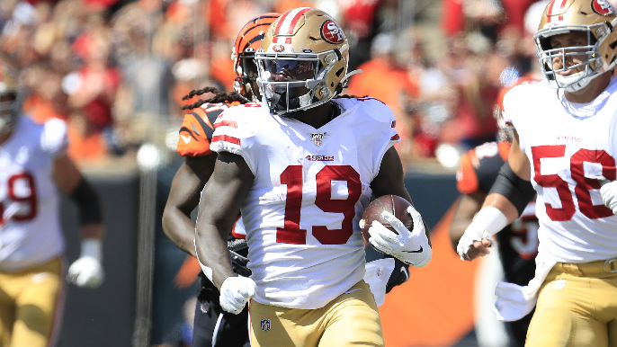 Shanahan says Pettis, Samuel are co-starters, but stats reveal Pettis' disappearing act