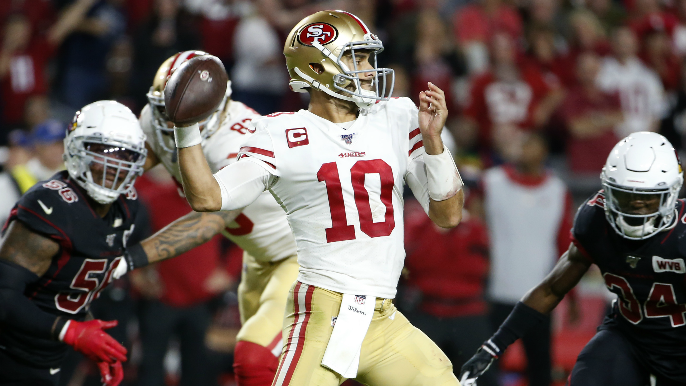 49ers spooked late by Cardinals, saved by Jimmy Garoppolo's game of the season