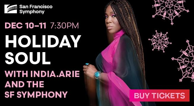 December 10 & 11: Holiday Soul With India.Arie and the SF Symphony