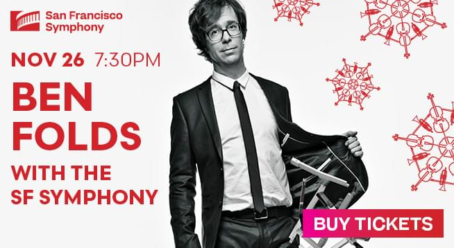 November 26: Ben Folds With The San Francisco Symphony