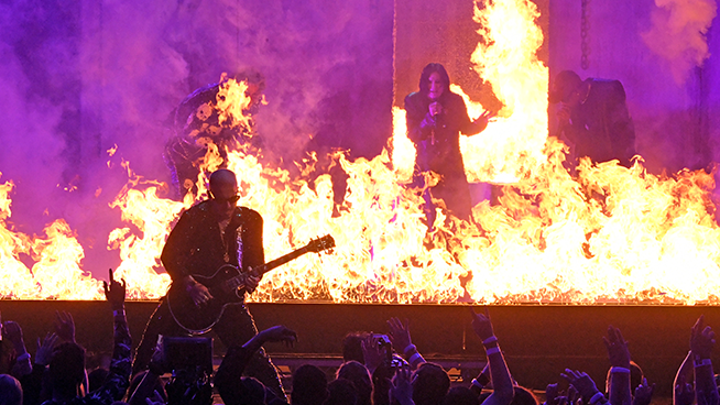 """Ozzy Osbourne joins Post Malone and Travis Scott for a hot American Music Award performance of """"Take What You Want"""""""