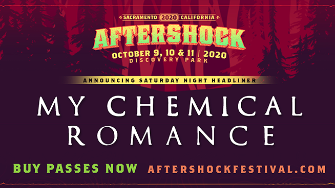 My Chemical Romance to headline Aftershock Festival 2020 alongside Metallica