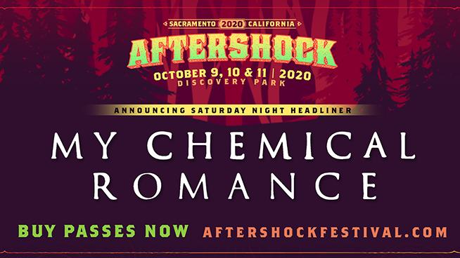 My Chemical Romance to headline Aftershock Festival 2020 alongside Metallica
