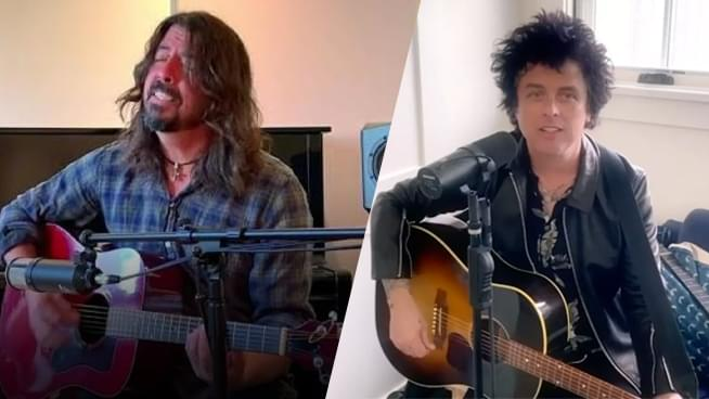 Watch Dave Grohl and Billie Joe perform hits from their living rooms