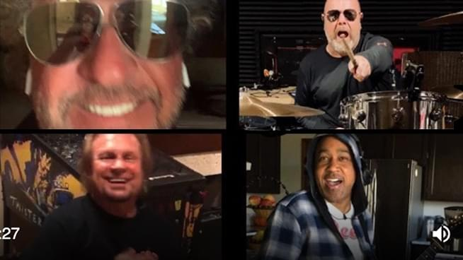 "Sammy Hagar and The Circle perform new song ""Funky Fung Shei"" while practicing social distancing"