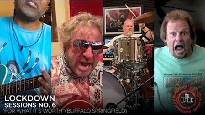 "Sammy Hagar & The Circle preform ""For What It's Worth"" in latest Lockdown Session"