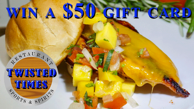 Try To Win A $50 Gift Card To Twisted Times Restaurant