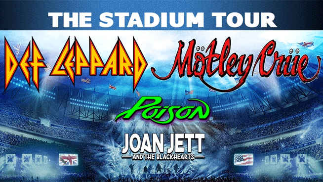 Def Leppard, Mötley Crüe, Poison and Joan Jett & The Blackhearts postpone The Stadium Tour until Summer 2021