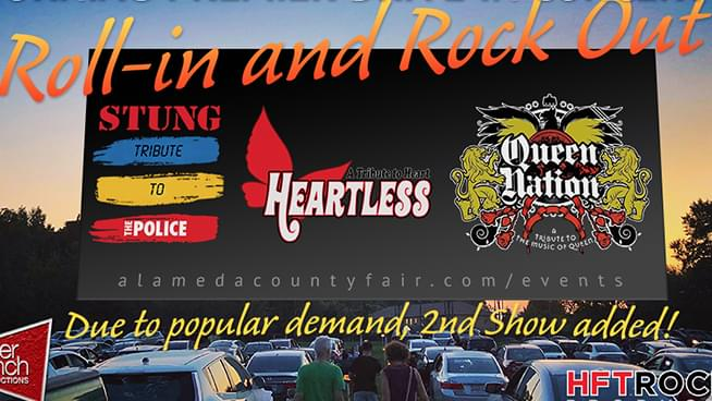 "Alameda County Fairgrounds announce second ""Roll-in and Rock Out"" concert with Stung, Heartless and Queen Nation"
