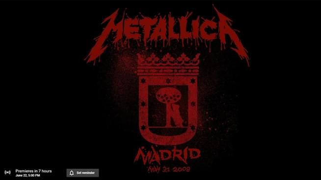 Relive Metallica's 2008 performance from Madrid, Spain