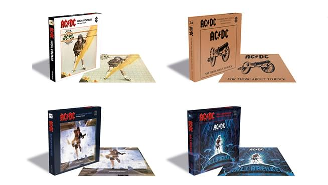 AC/DC releases puzzles featuring four iconic album covers