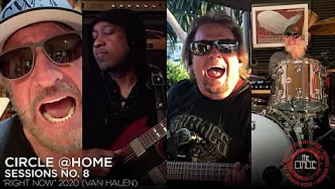 "Sammy Hagar & The Circle cover Van Halen's ""Right Now"" in lockdown"
