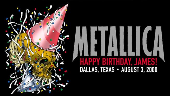 #MetallicaMonday celebrates James Hetfield's birthday with a replay live from Dallas