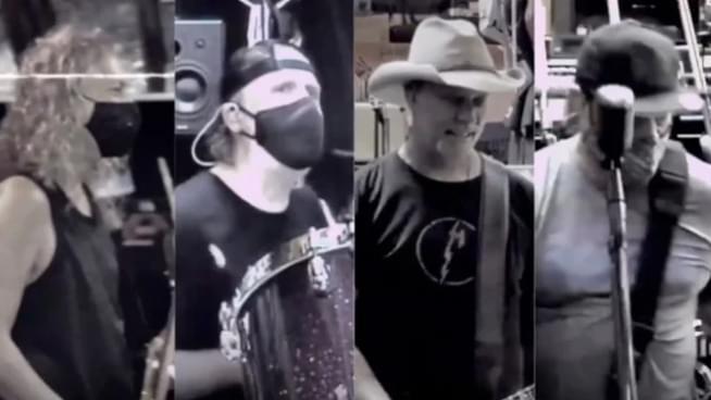 Men In Masks: Watch Metallica Practice