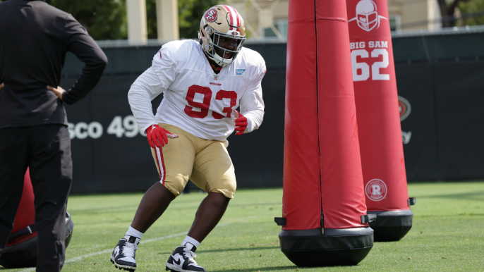 49ers Notebook: D.J. Jones injured after mauling O-line, plus scuffles and promising 1-on-1s