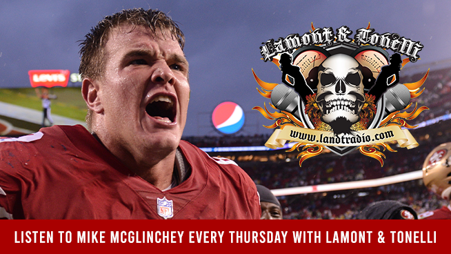 Tune in to Lamont & Tonelli Thursdays at 6:45am to Hear Mike McGlinchey
