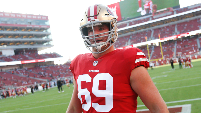 Meet 49ers standout right tackle Mike McGlinchey, The Bone's newest weekly guest