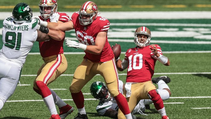 Garoppolo, Mostert both ruled out for second half vs. Jets