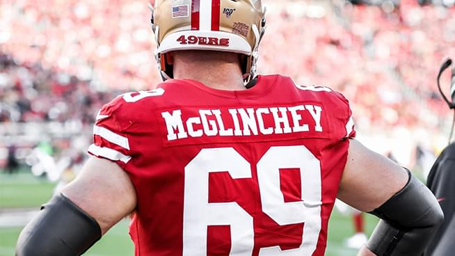 "McGlinchey shares how ""Raheem Fantasy owners everywhere flooded [his] DMs"" after last Sunday's game"