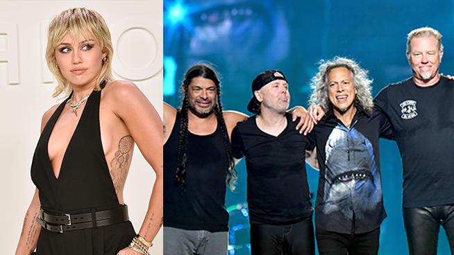 Miley Cyrus Announces Secret Metallica Project