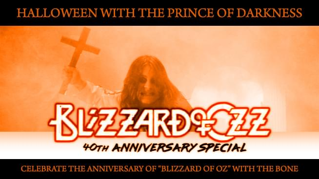 """Celebrate the Anniversary of """"Blizzard of Oz"""" with The Bone"""