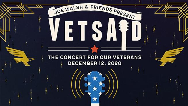 VetsAid 2020: The Joe Walsh Curated Concert to Support Veterans Will Feature James Hetfield, Eddie Vedder and Jon Bon Jovi
