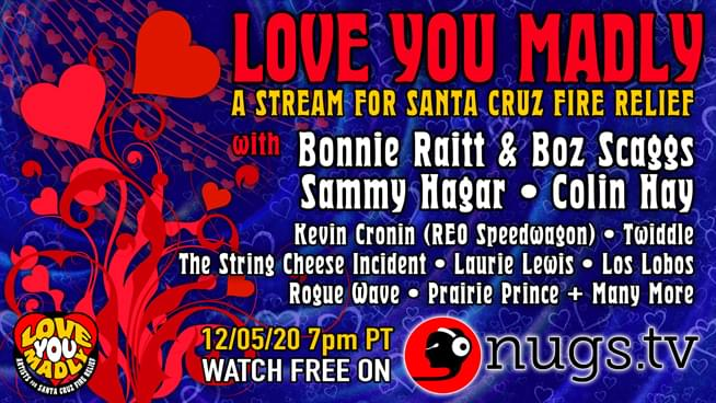 "Sammy Hagar, Boz Scaggs and REO Speedwagon to Play Santa Cruz Fire Relief Concert ""Love You Madly"""