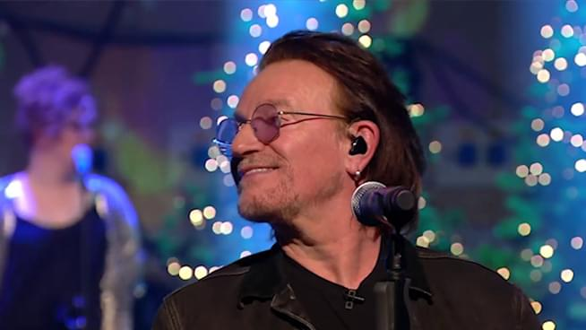 "Bono & The Edge Cover ""Christmas (Baby Please Come Home)"" For Charity"