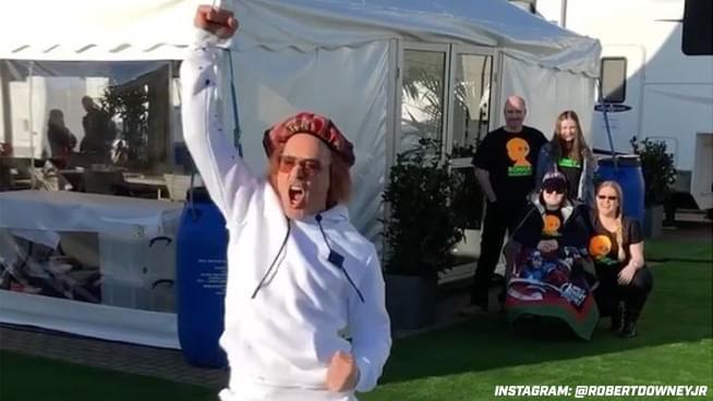 Robert Downey Jr. Shares Video Dancing to Van Halen
