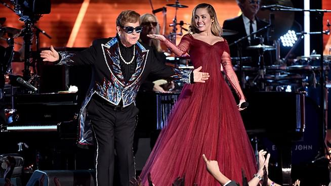 "Elton John Playing Piano on Miley Cyrus' Cover of ""Nothing Else Matters"""
