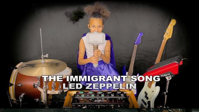 Nandi Bushell Makes Live Loop of Led Zeppelin Song