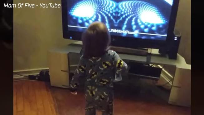 Adorable Toddler Dances to Tool