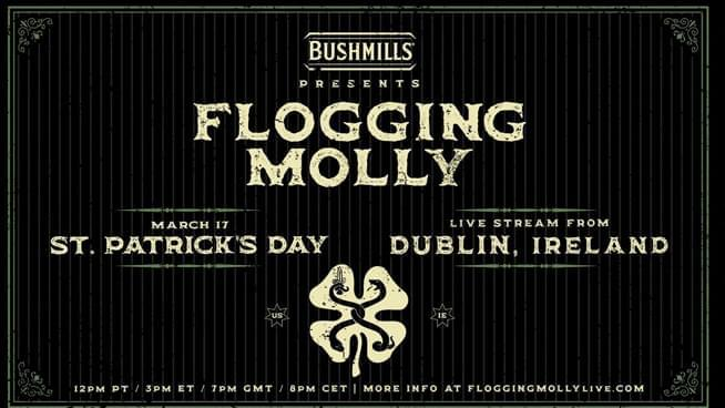 You Could Watch Flogging Molly Live Stream from Ireland on St. Patrick's Day!