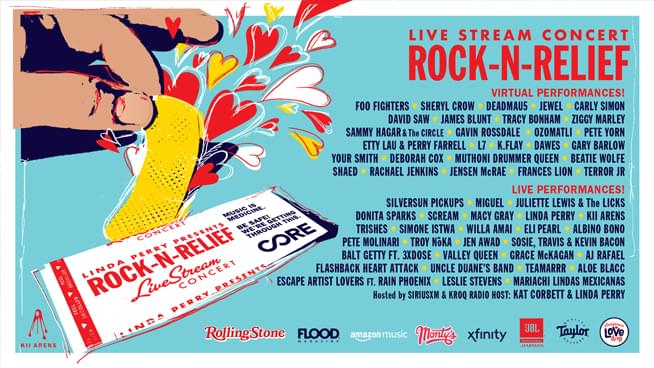 Foo Fighters, Sammy Hagar, Gavin Rossdale, Perry Farrell & More Join 'Rock 'N' Relief' Benefit
