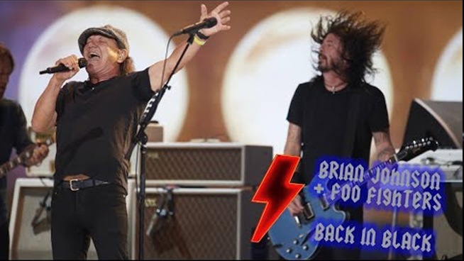 """Foo Fighters Team Up with Brian Johnson to Cover AC/DC's """"Back in Black"""""""