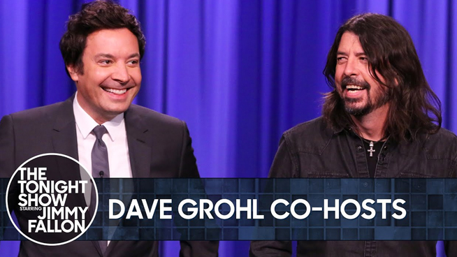 Dave Grohl Goofs Around, Tells Stories on 'Tonight Show'