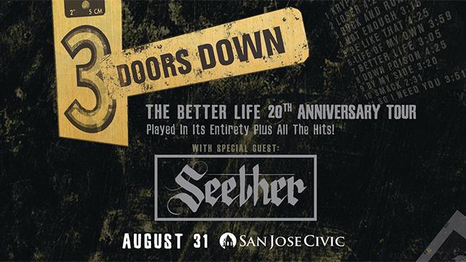 August 31: 3 Doors Down