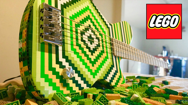 Man Builds A Bass Out of 2,000 Legos