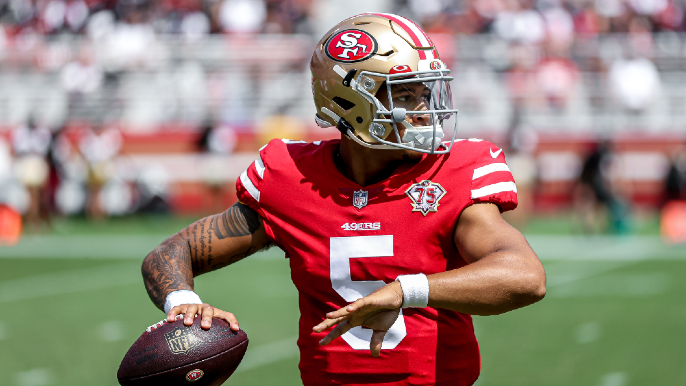 Kyle Shanahan says Trey Lance sustained 'micro chip' on finger, provides expected timeline