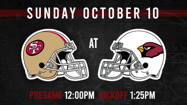 Niners at Cardinals: Sunday, October 10