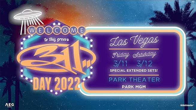 311 Announce Their 12th Biannual '311 Day' for 2022