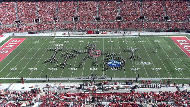 Ohio State Marching Band Pays Tribute to Rush