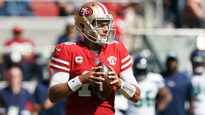 Jimmy Garoppolo returns to practice, Trey Lance does not