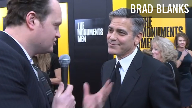 Brad Chats with George Clooney About Being a Painter