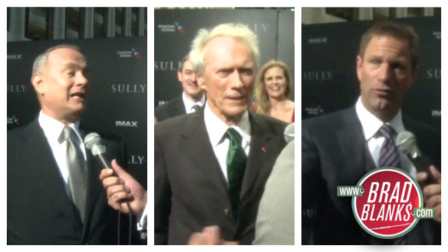 ► Brad Blanks Talks to Tom Hanks, Clint Eastwood & Aaron Eckhart at the New York Premiere of SULLY